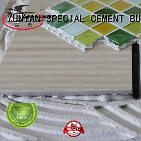 unsanded Custom tile sanded stone tile adhesive YUNYAN mosaic