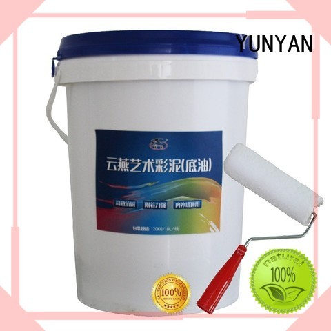 painting interior stucco walls cement concrete YUNYAN Brand company