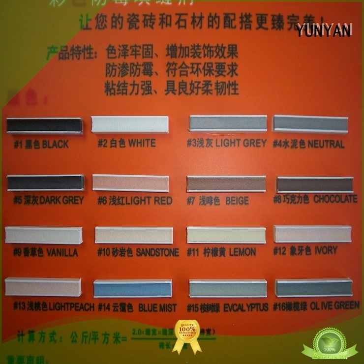 YUNYAN Brand epoxy colored grout non shrink grout